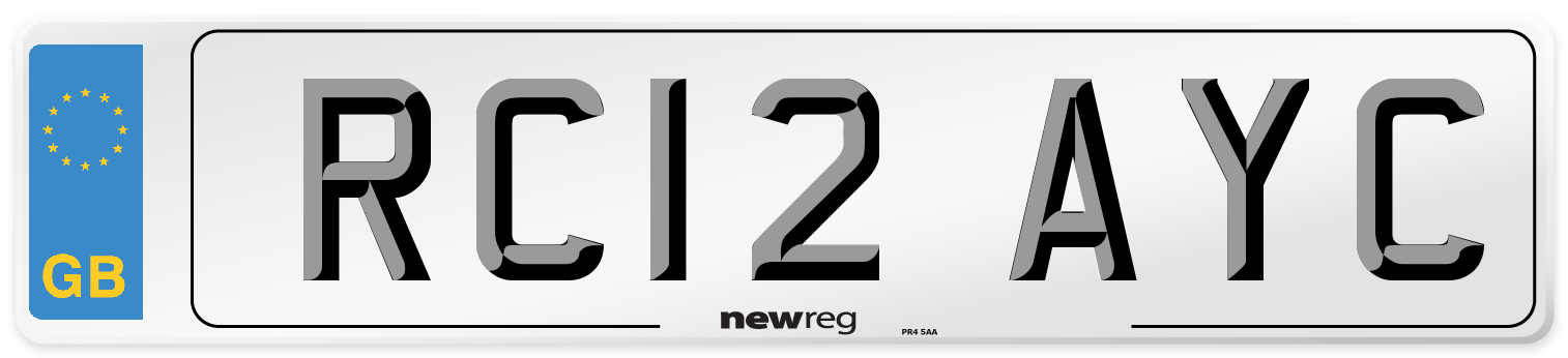 RC12 AYC Number Plate from New Reg
