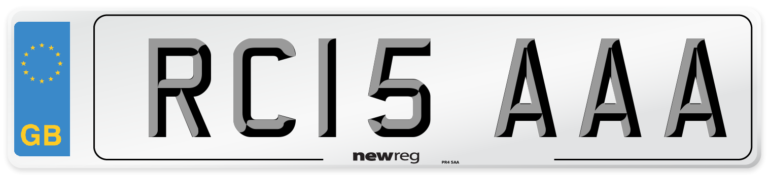 RC15 AAA Number Plate from New Reg