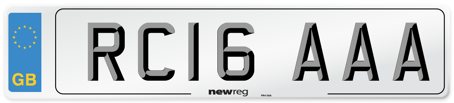 RC16 AAA Number Plate from New Reg