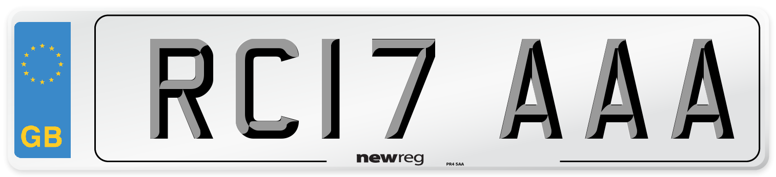 RC17 AAA Number Plate from New Reg