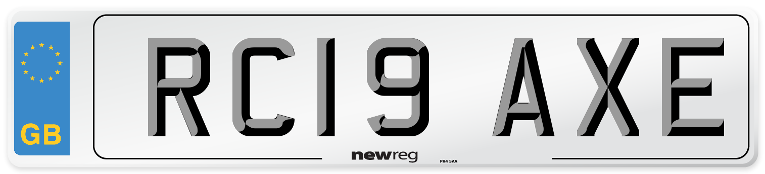 RC19 AXE Number Plate from New Reg