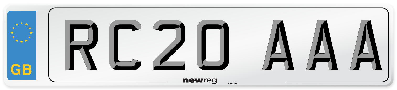 RC20 AAA Number Plate from New Reg