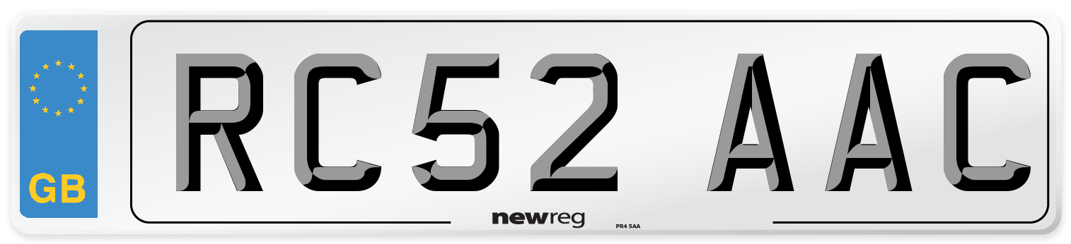 RC52 AAC Number Plate from New Reg