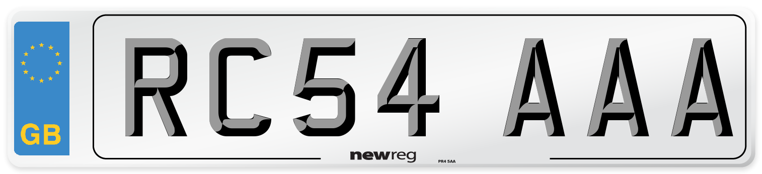 RC54 AAA Number Plate from New Reg