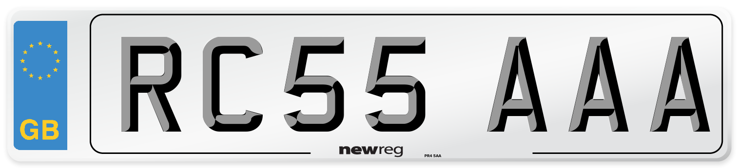 RC55 AAA Number Plate from New Reg