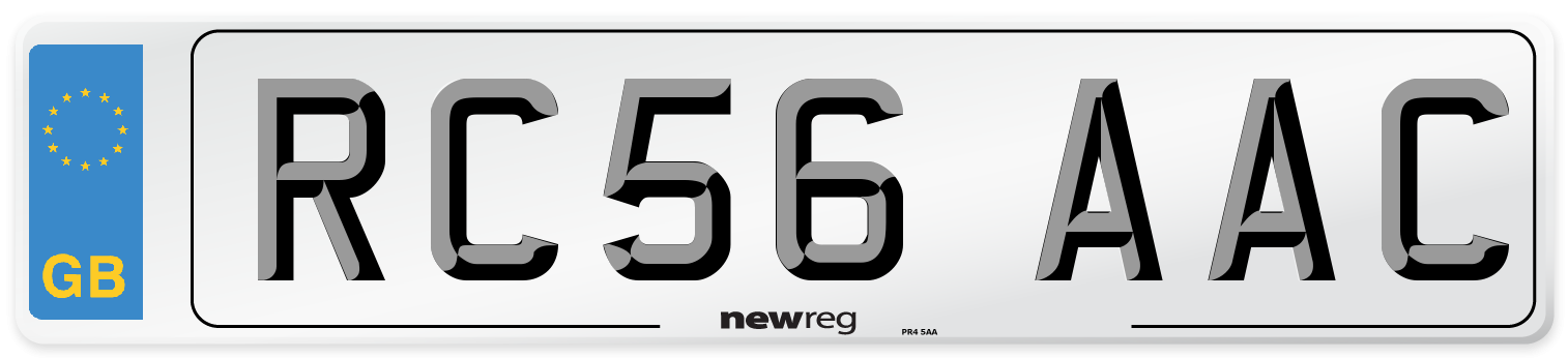 RC56 AAC Number Plate from New Reg