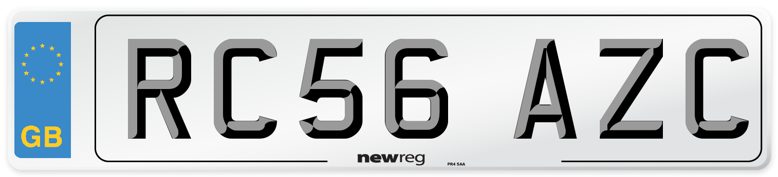 RC56 AZC Number Plate from New Reg