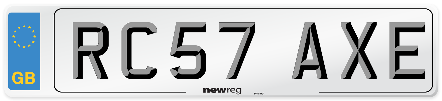 RC57 AXE Number Plate from New Reg