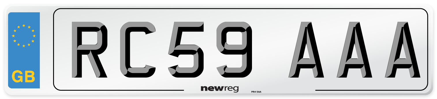 RC59 AAA Number Plate from New Reg