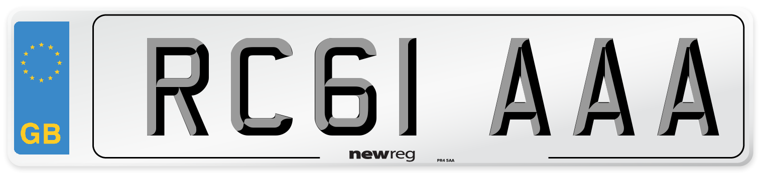 RC61 AAA Number Plate from New Reg