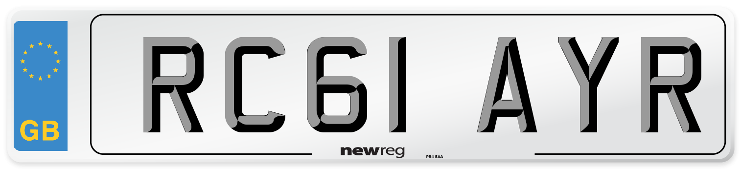 RC61 AYR Number Plate from New Reg