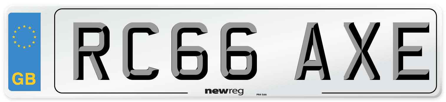 RC66 AXE Number Plate from New Reg