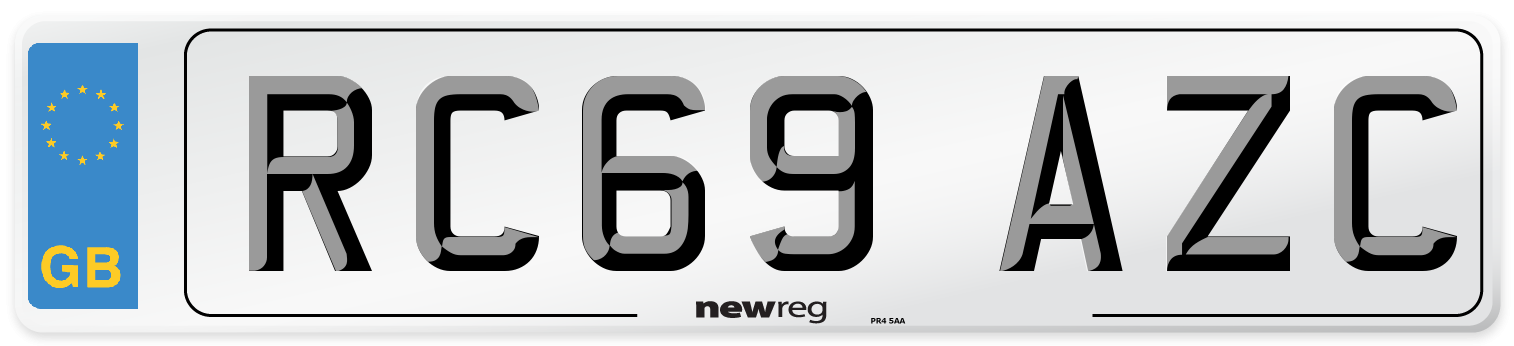 RC69 AZC Number Plate from New Reg