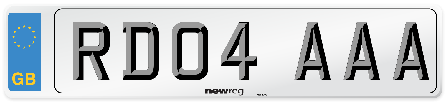 RD04 AAA Number Plate from New Reg