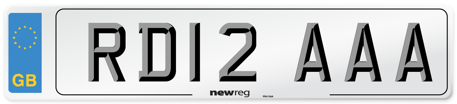 RD12 AAA Number Plate from New Reg