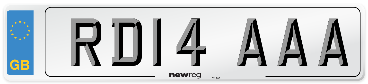 RD14 AAA Number Plate from New Reg