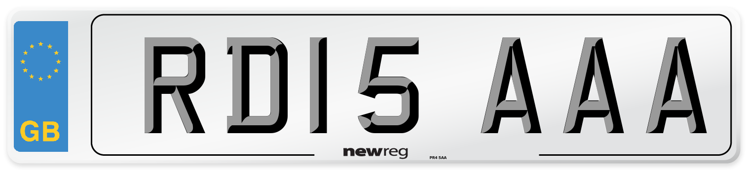 RD15 AAA Number Plate from New Reg