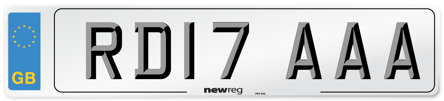 RD17 AAA Number Plate from New Reg