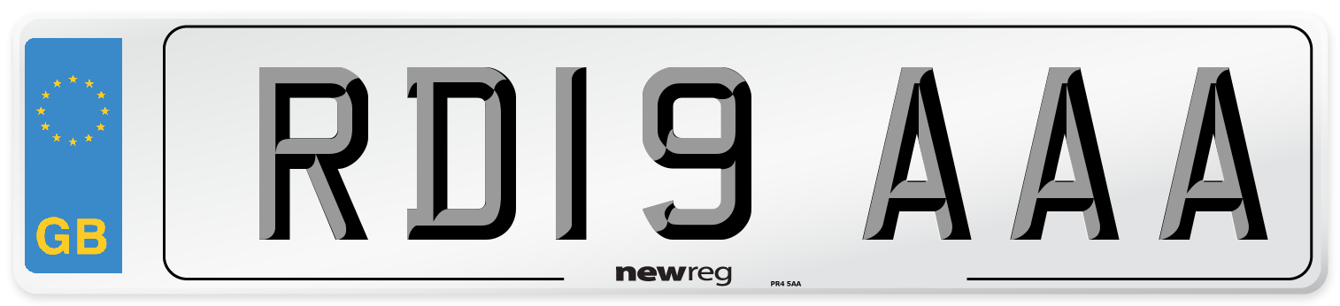 RD19 AAA Number Plate from New Reg