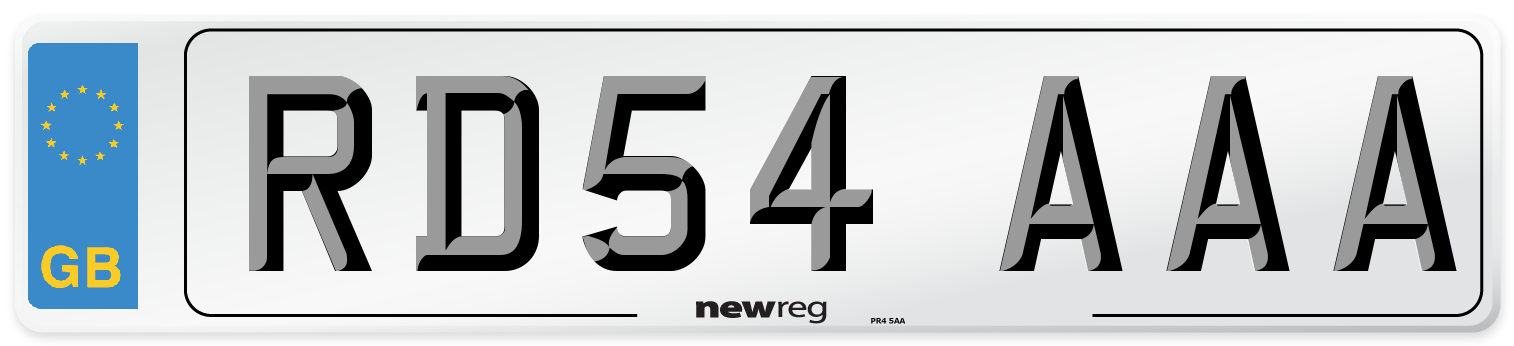 RD54 AAA Number Plate from New Reg