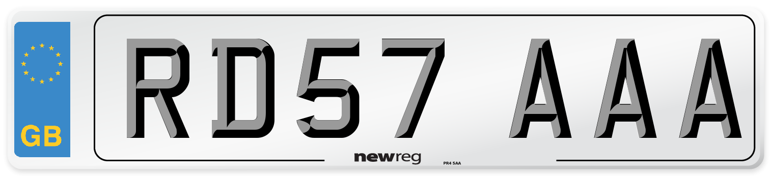 RD57 AAA Number Plate from New Reg