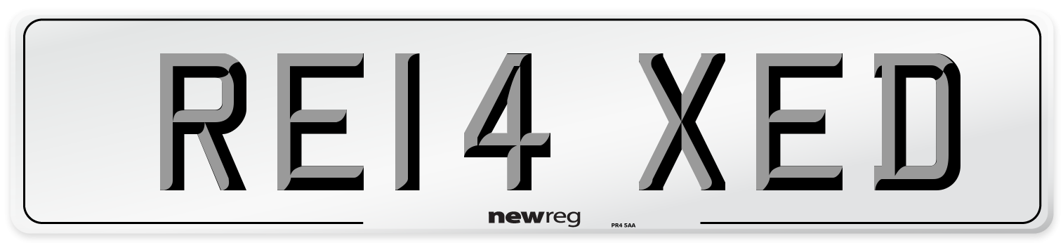 RE14 XED Number Plate from New Reg