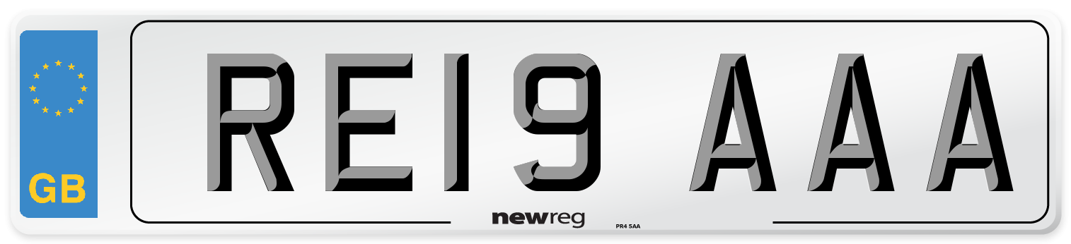 RE19 AAA Number Plate from New Reg