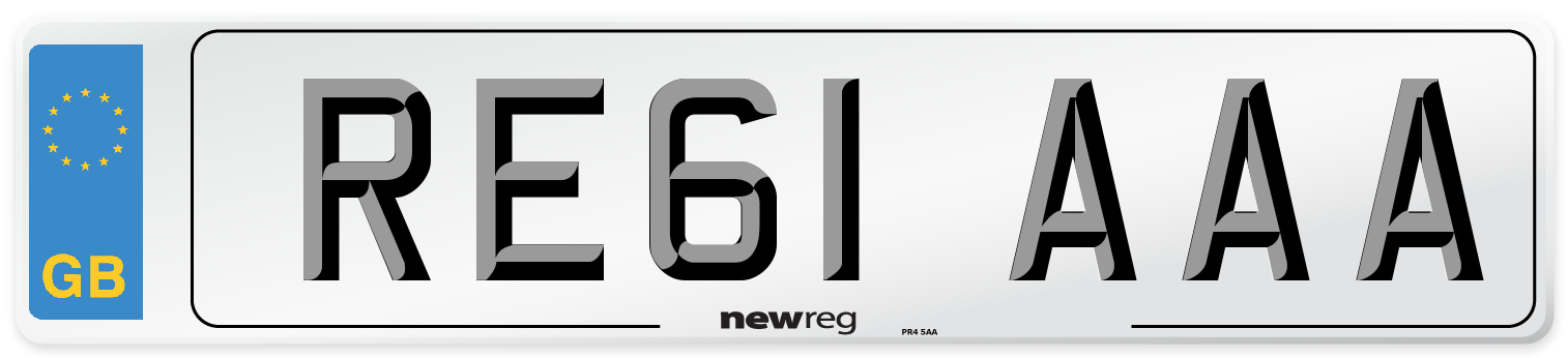 RE61 AAA Number Plate from New Reg