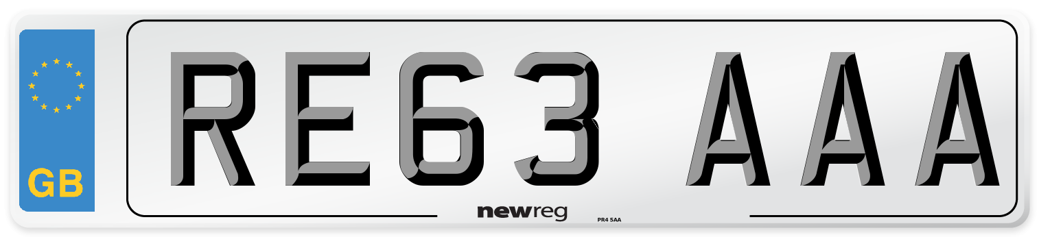 RE63 AAA Number Plate from New Reg