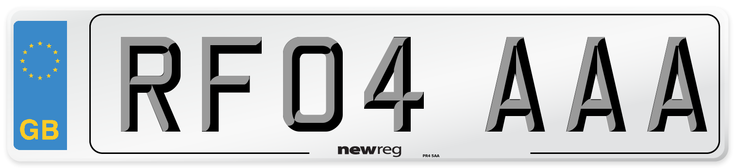 RF04 AAA Number Plate from New Reg
