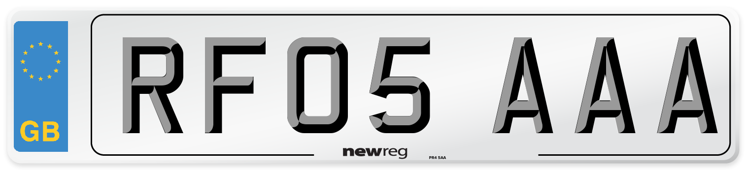RF05 AAA Number Plate from New Reg