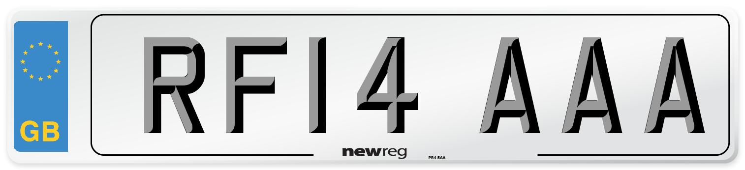RF14 AAA Number Plate from New Reg