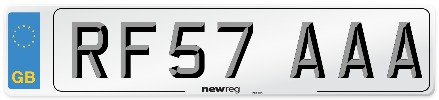 RF57 AAA Number Plate from New Reg
