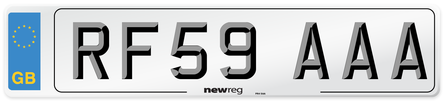 RF59 AAA Number Plate from New Reg