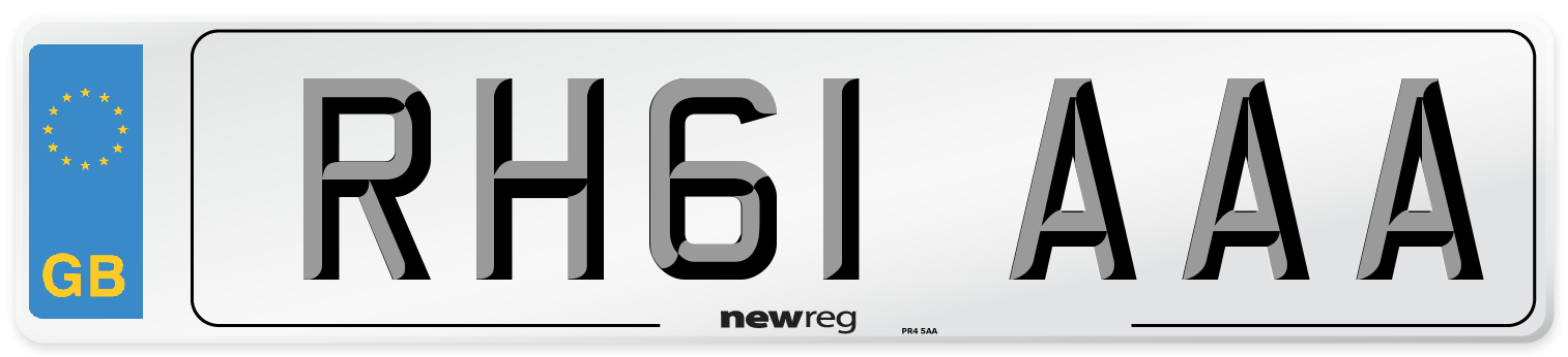 RH61 AAA Number Plate from New Reg