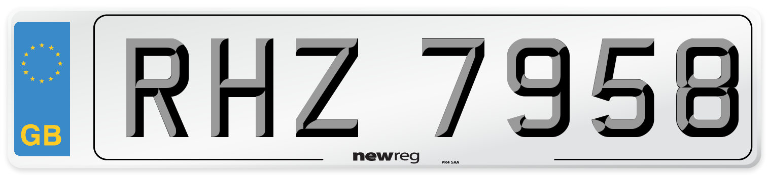RHZ 7958 Number Plate from New Reg