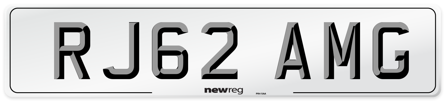RJ62 AMG Number Plate from New Reg