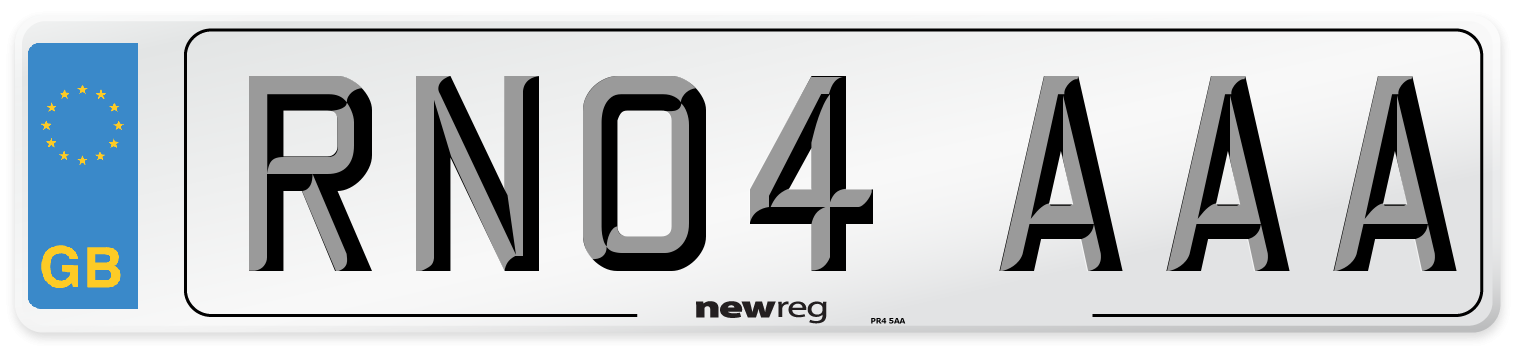 RN04 AAA Number Plate from New Reg