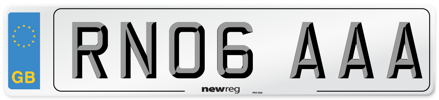 RN06 AAA Number Plate from New Reg