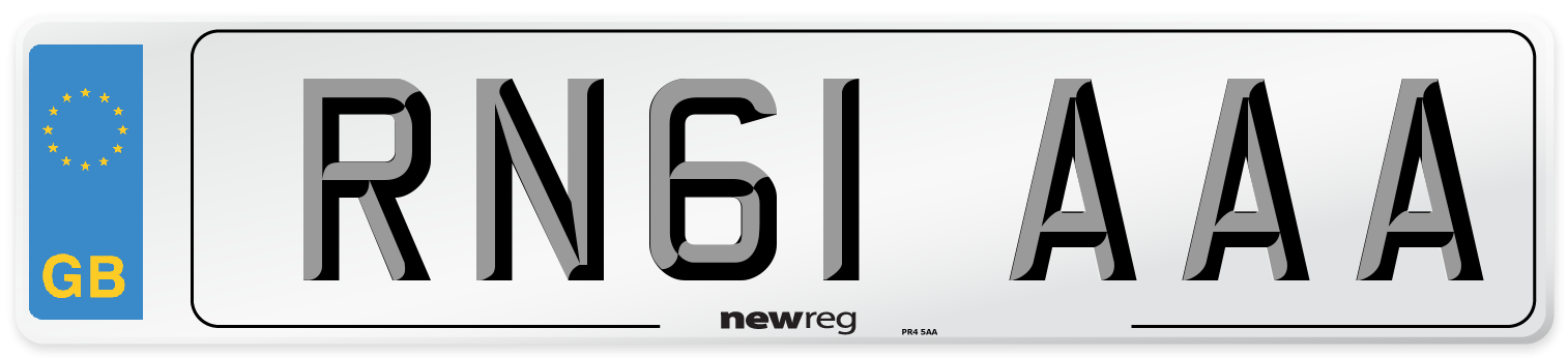 RN61 AAA Number Plate from New Reg