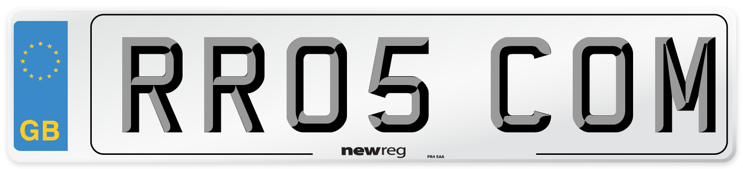 RR05 COM Number Plate from New Reg