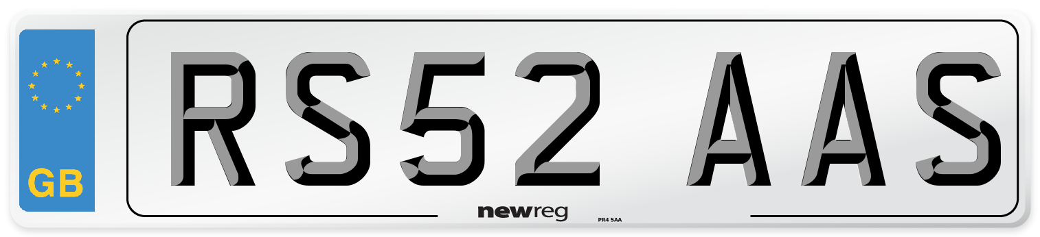 RS52 AAS Number Plate from New Reg