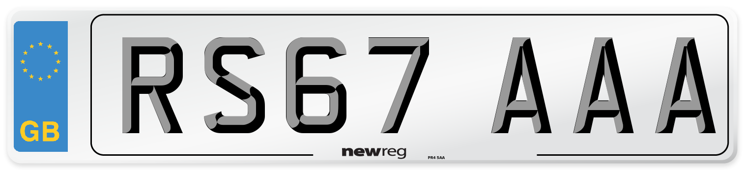 RS67 AAA Number Plate from New Reg