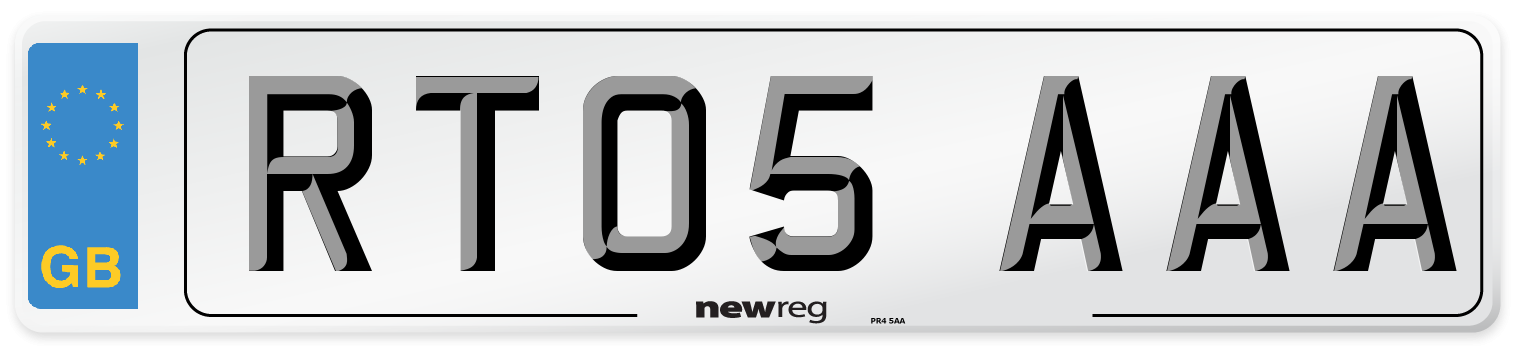RT05 AAA Number Plate from New Reg