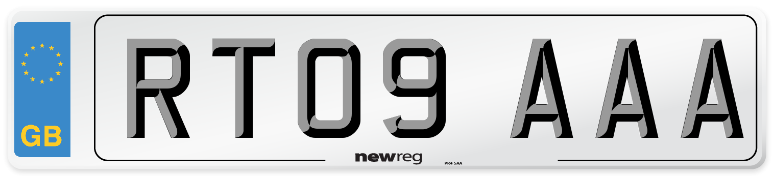 RT09 AAA Number Plate from New Reg