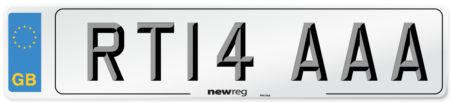 RT14 AAA Number Plate from New Reg