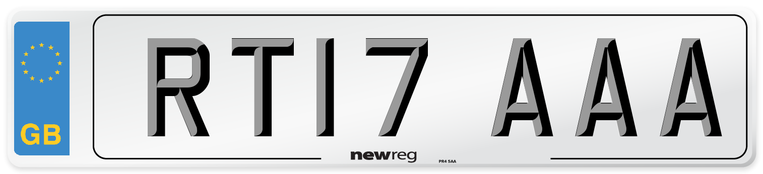 RT17 AAA Number Plate from New Reg