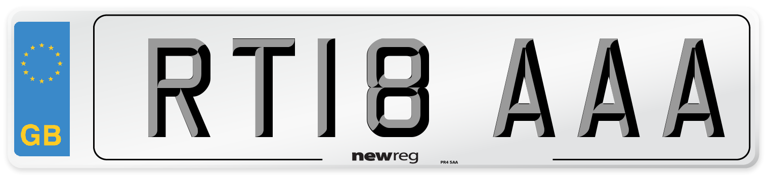 RT18 AAA Number Plate from New Reg