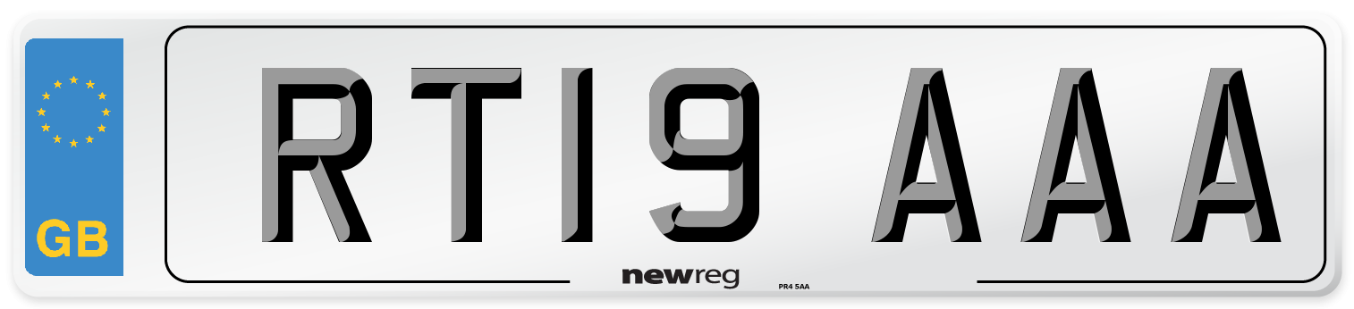 RT19 AAA Number Plate from New Reg