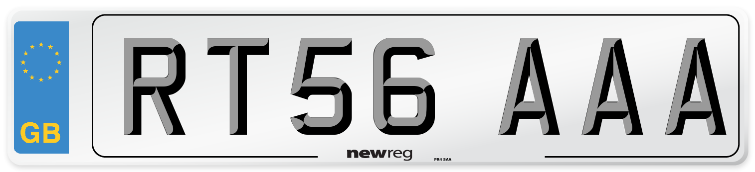 RT56 AAA Number Plate from New Reg